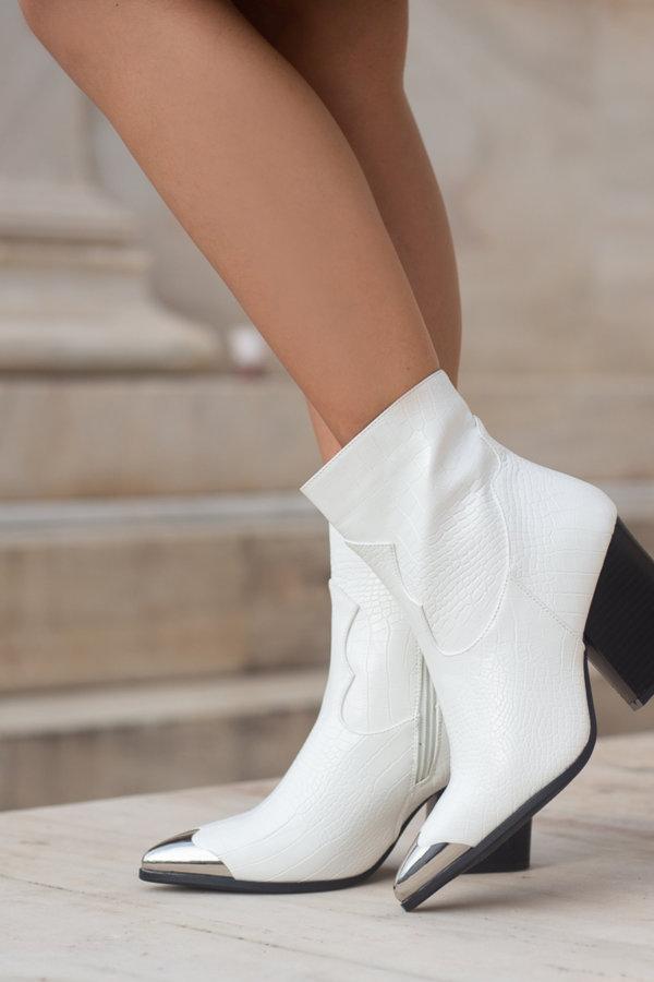 ΜΠΟΤΑΚΙΑ Amalie ankle boots λευκό