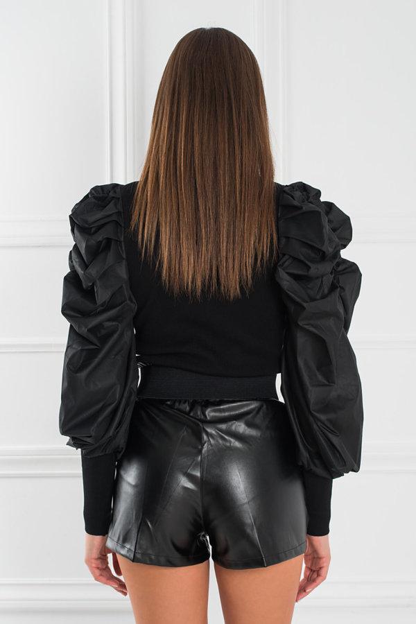 ΠΛΕΚΤΑ Bibi μπλούζα μαύρο