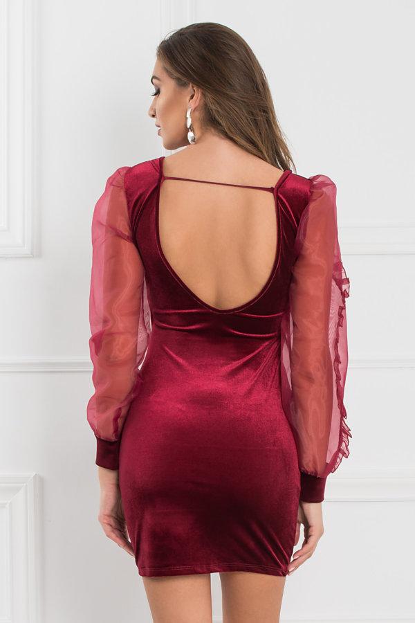 ΦΟΡΕΜΑΤΑ ΠΡΟΣΦΟΡΕΣ Kalista φόρεμα μπορντό