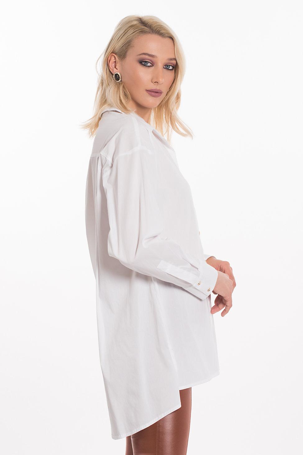 Gunner πουκάμισο λευκό