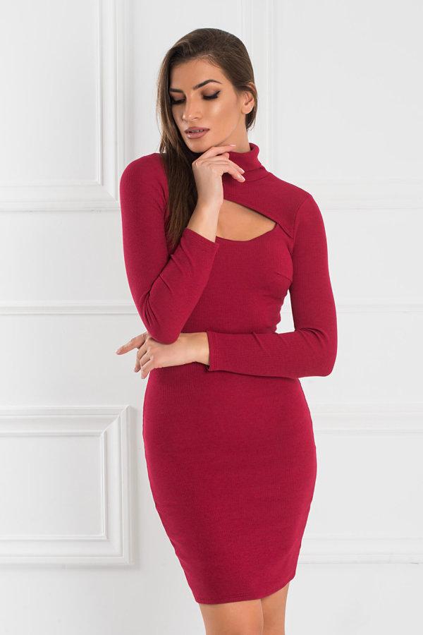ΦΟΡΕΜΑΤΑ ΠΡΟΣΦΟΡΕΣ Cathlene φόρεμα μπορντό