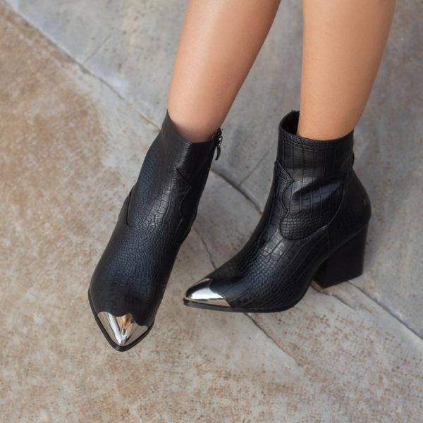ΠΑΠΟΥΤΣΙΑ Amalie ankle boots μαύρο