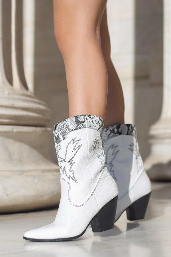 ΠΑΠΟΥΤΣΙΑ ΠΡΟΣΦΟΡΕΣ Antinea ankle boots λευκό