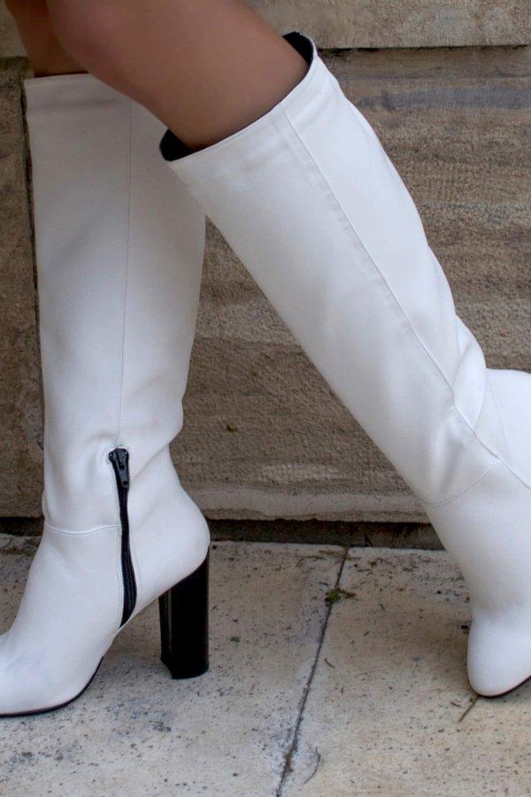 ΜΠΟΤΕΣ Dinela μπότες λευκό