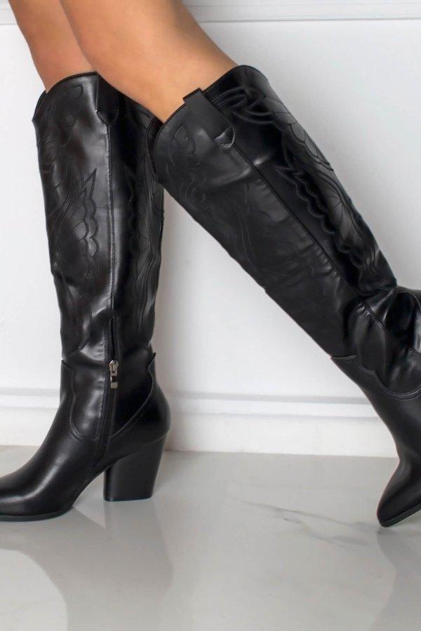 ΜΠΟΤΕΣ Jeanine μπότες μαύρο