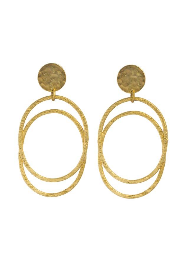 Belva σκουλαρίκια χρυσό