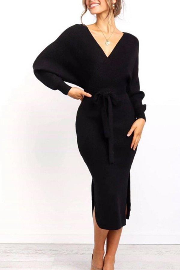 BEST SELLERS Tulip φόρεμα μαύρο
