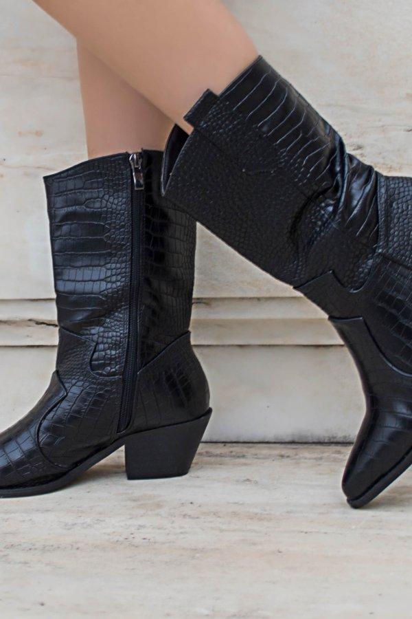 ΜΠΟΤΕΣ Vanessa μπότες μαύρο