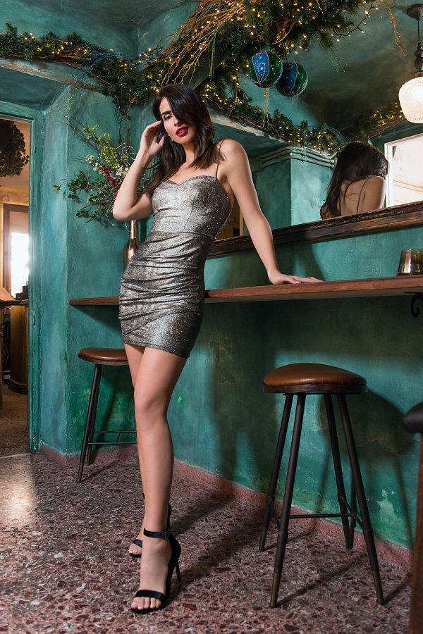 Bijou φόρεμα ασημί