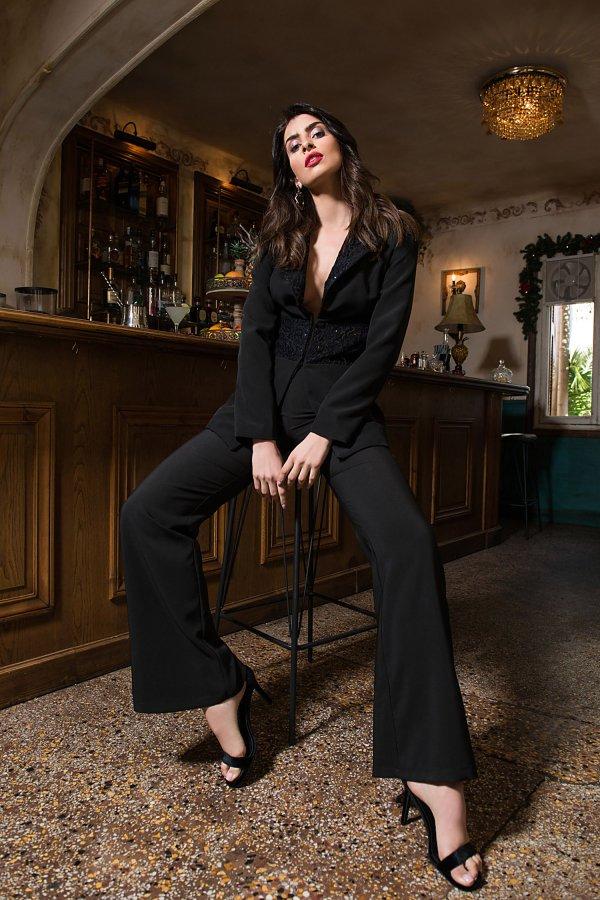 ΠΑΝΤΕΛΟΝΙΑ Emy παντελόνι μαύρο