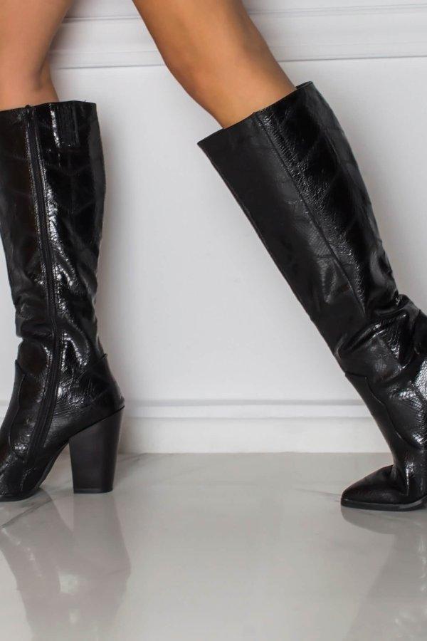 ΜΠΟΤΕΣ Jenna μπότες μαύρο