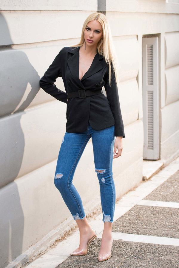 ΣΑΚΑΚΙΑ Apocalyptic blazer μαύρο
