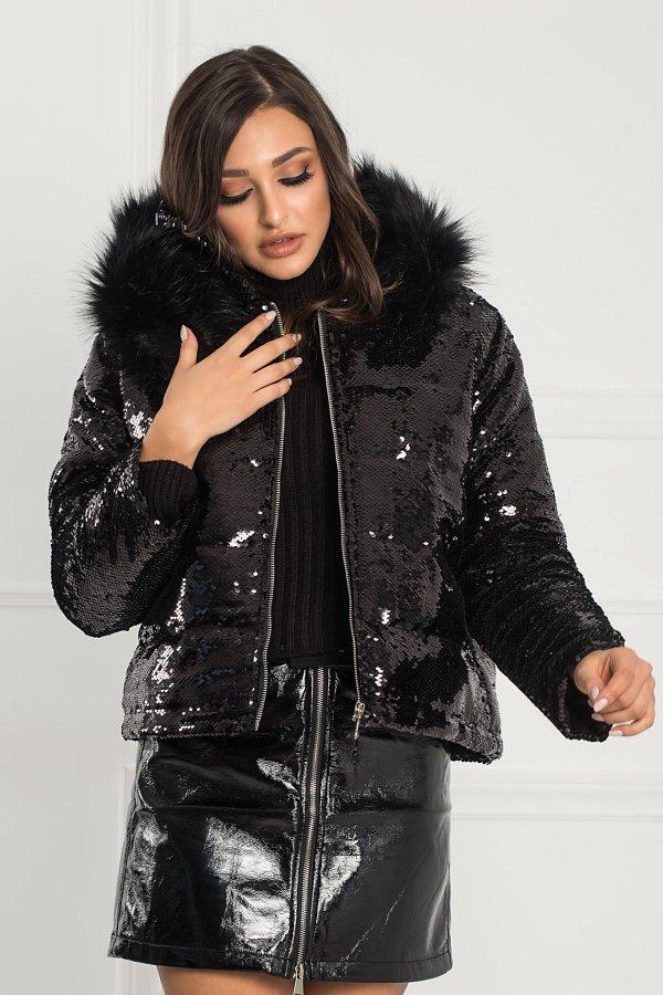 ΜΠΟΥΦΑΝ Jutta jacket μαύρο