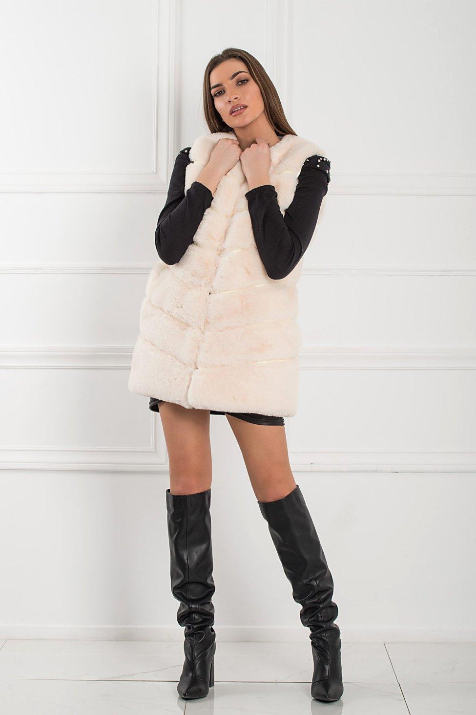 Yoshiko γούνα λευκό