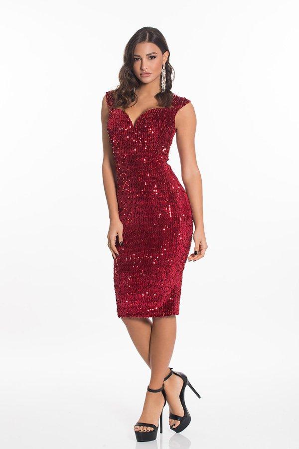 Chilly φόρεμα κόκκινο