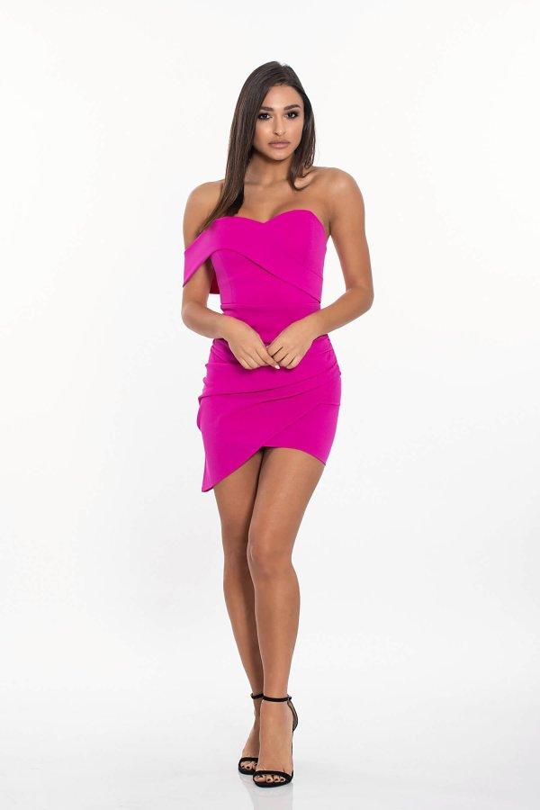 Amoret φόρεμα φούξια