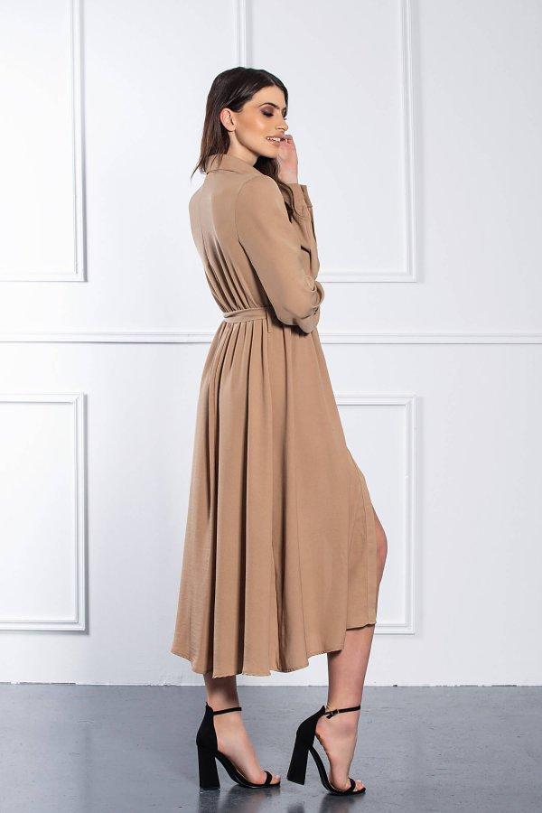 ΜΑΞΙ ΦΟΡΕΜΑΤΑ Aubree φόρεμα κάμελ