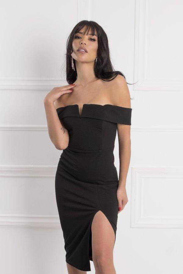 ΜΙΝΤΙ ΦΟΡΕΜΑΤΑ Lina φόρεμα μαύρο