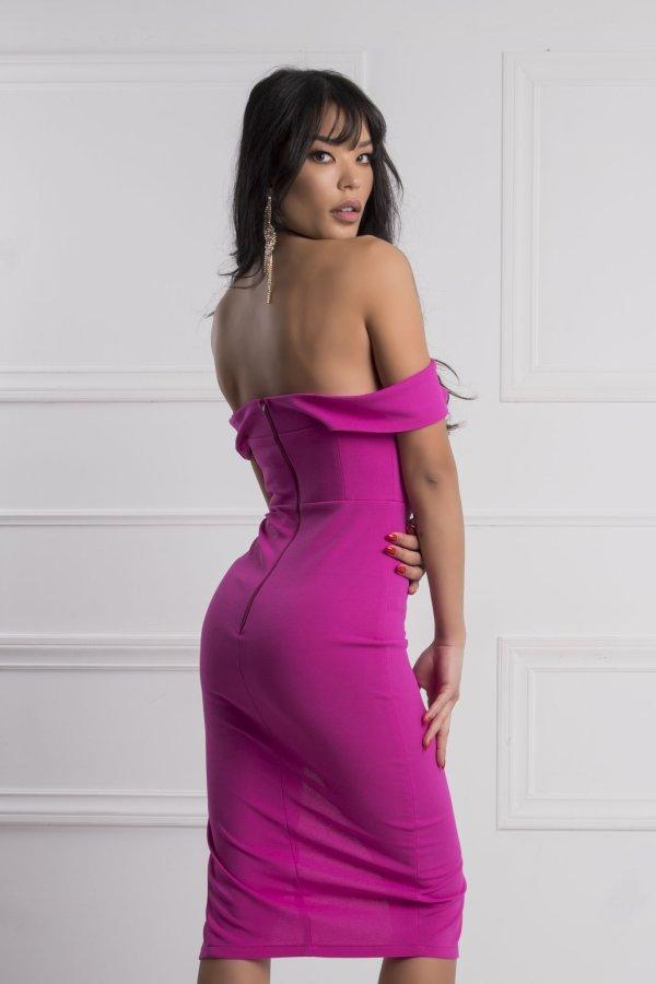ΜΙΝΤΙ ΦΟΡΕΜΑΤΑ Lina φόρεμα φούξια