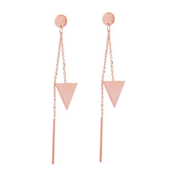ΑΞΕΣΟΥΑΡ Yvette σκουλαρίκια ροζ χρυσό