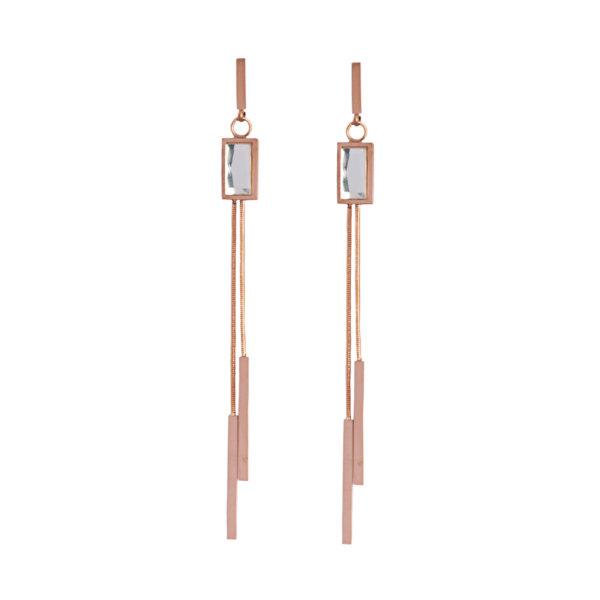 ΑΞΕΣΟΥΑΡ India σκουλαρίκια ροζ χρυσό