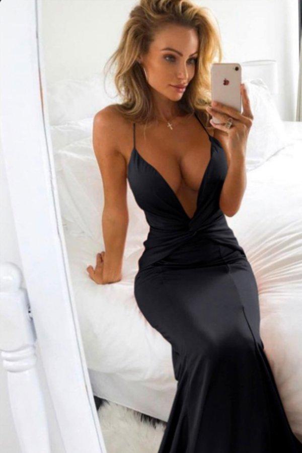 ΜΑΞΙ ΦΟΡΕΜΑΤΑ Keely φόρεμα μαύρο
