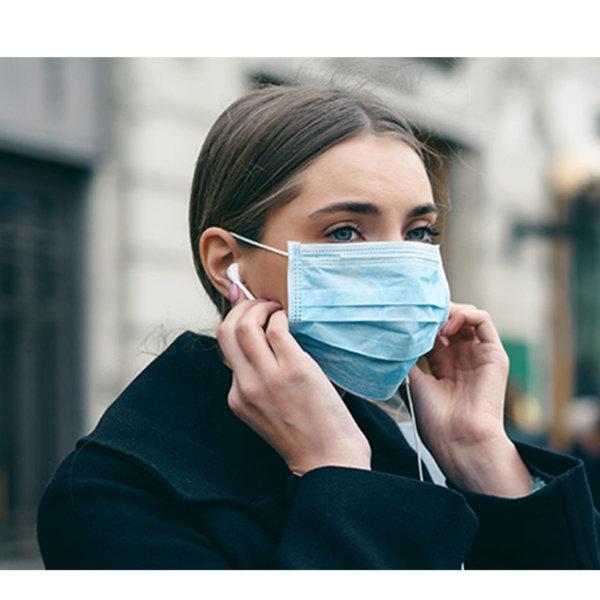ΑΞΕΣΟΥΑΡ Μάσκα προστασίας (πιστοποιημένη) μπλε