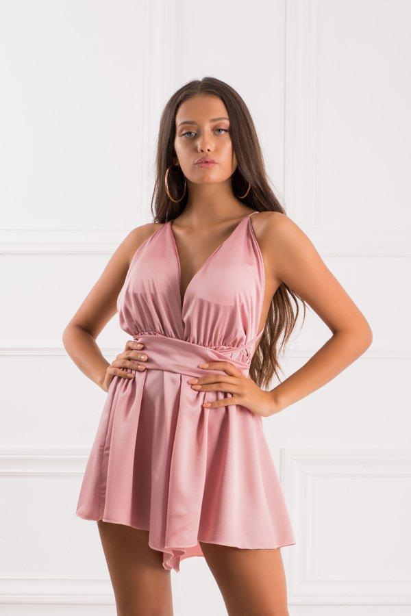 ΟΛΟΣΩΜΕΣ ΦΟΡΜΕΣ Quabil ολόσωμη φόρμα σορτς ροζ