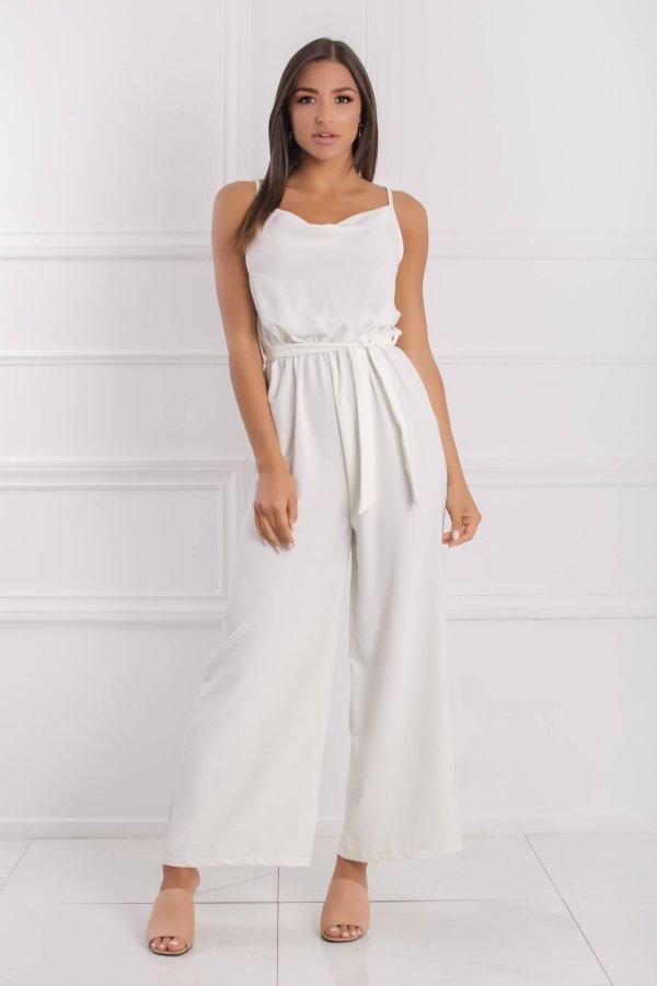 ΟΛΟΣΩΜΕΣ ΦΟΡΜΕΣ Nadia ολόσωμη φόρμα λευκό