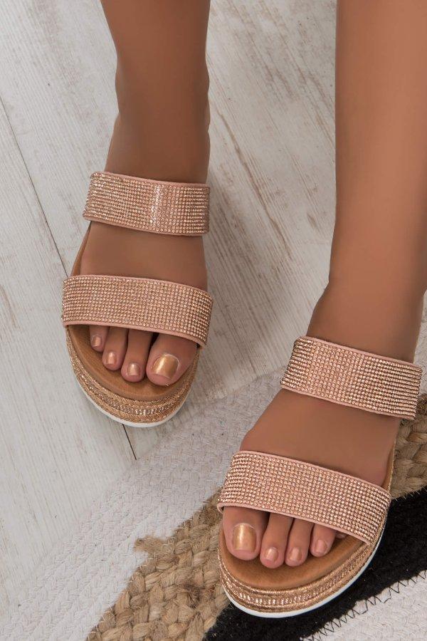 FLATFORMS Viola flatforms ροζ χρυσό