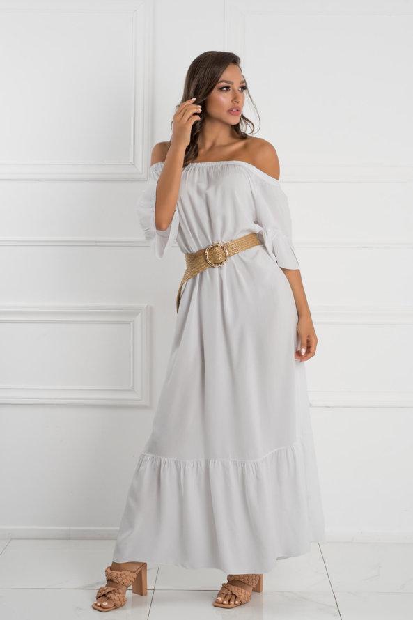 ΜΑΞΙ ΦΟΡΕΜΑΤΑ Roseau φόρεμα λευκό