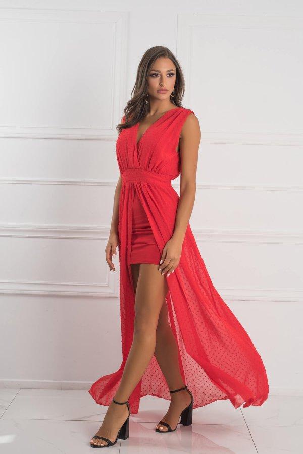 ΜΑΞΙ ΦΟΡΕΜΑΤΑ Rapunzel dress κόκκινο