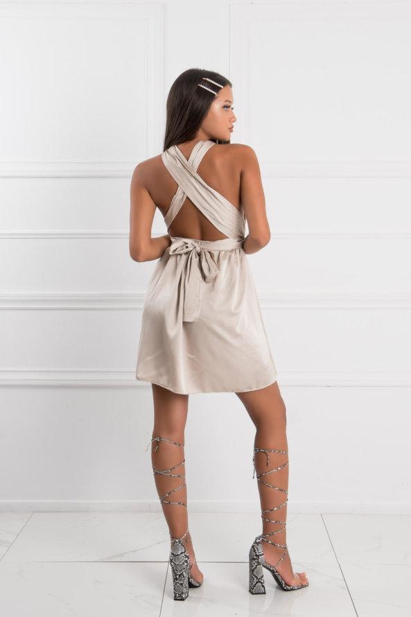 ΠΡΟΣΦΟΡΕΣ Luno φόρεμα μπεζ