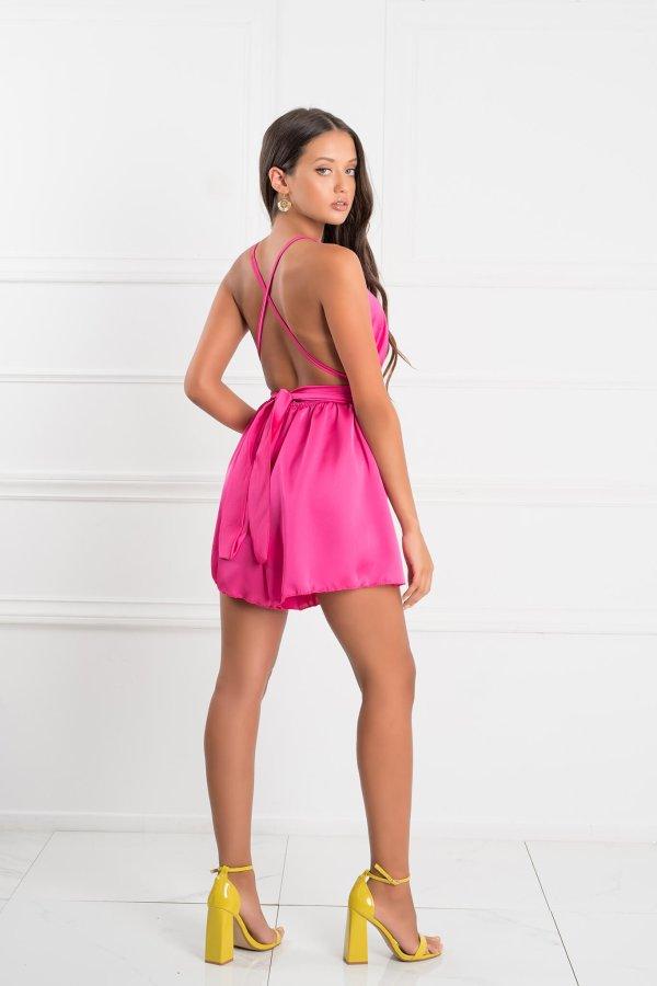 Quabil ολόσωμη φόρμα σορτς φούξια