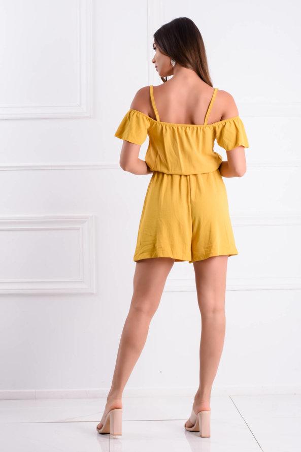 ΟΛΟΣΩΜΕΣ ΦΟΡΜΕΣ SALES Zaid ολόσωμη φόρμα σορτς κίτρινο
