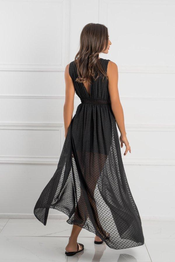 ΜΑΞΙ ΦΟΡΕΜΑΤΑ Rapunzel dress μαύρο