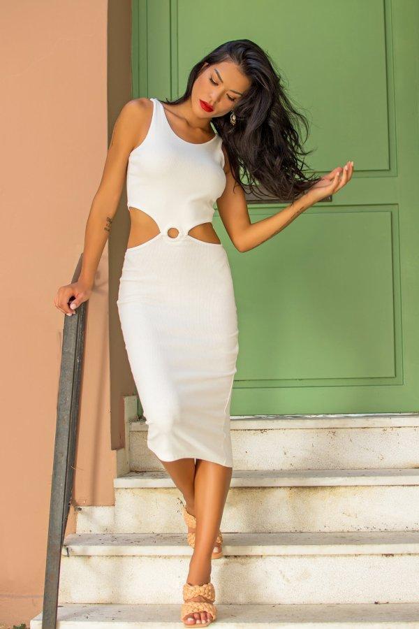 ΦΟΡΕΜΑΤΑ Academy φόρεμα λευκό