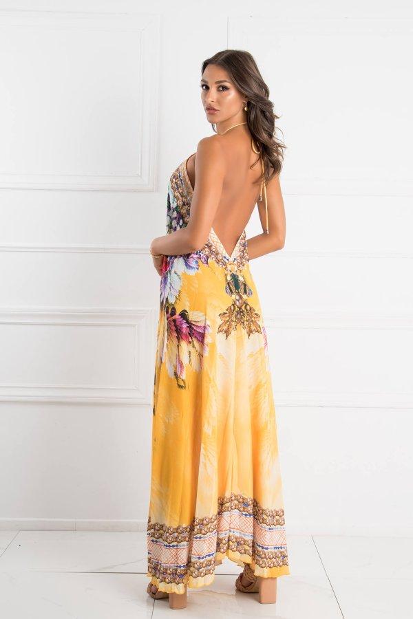 ΜΑΞΙ ΦΟΡΕΜΑΤΑ Spush splash dress κίτρινο