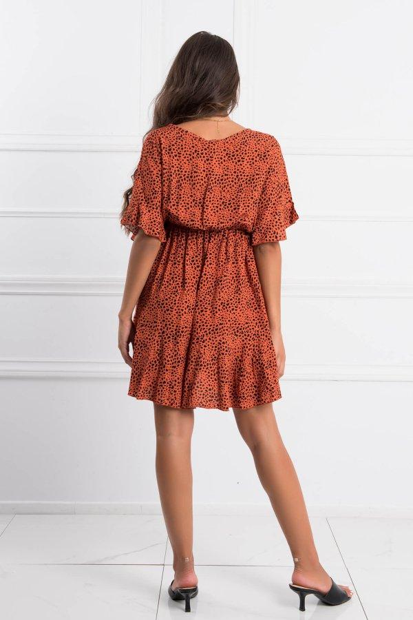 ΦΟΡΕΜΑΤΑ Curve φόρεμα κεραμιδί