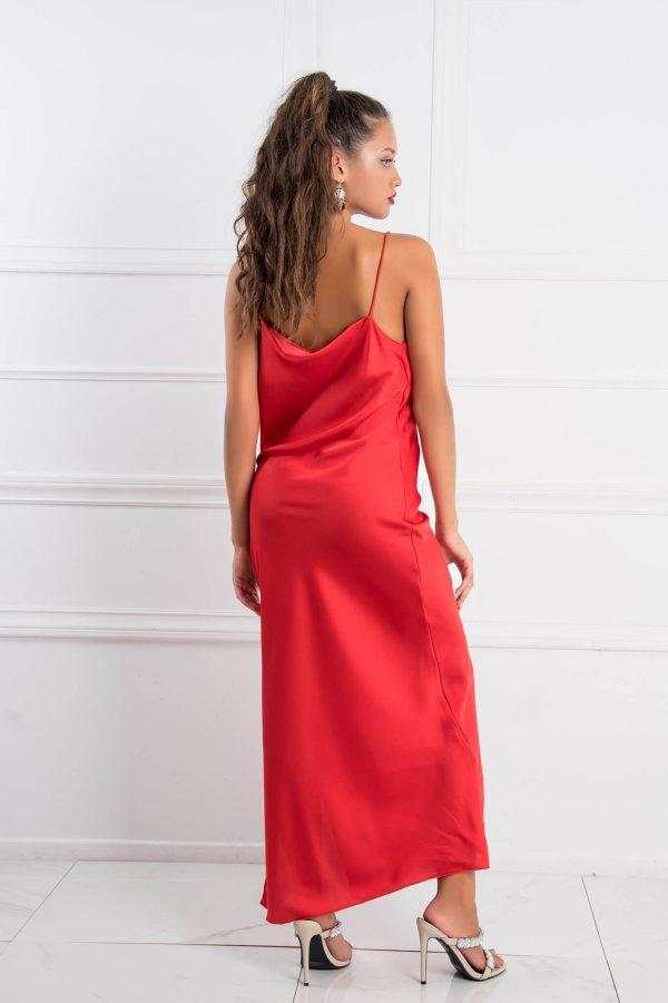 ΜΑΞΙ ΦΟΡΕΜΑΤΑ Denis φόρεμα κόκκινο