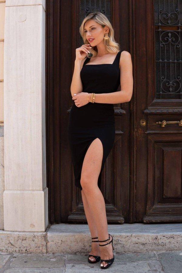 Agapito φόρεμα μαύρο