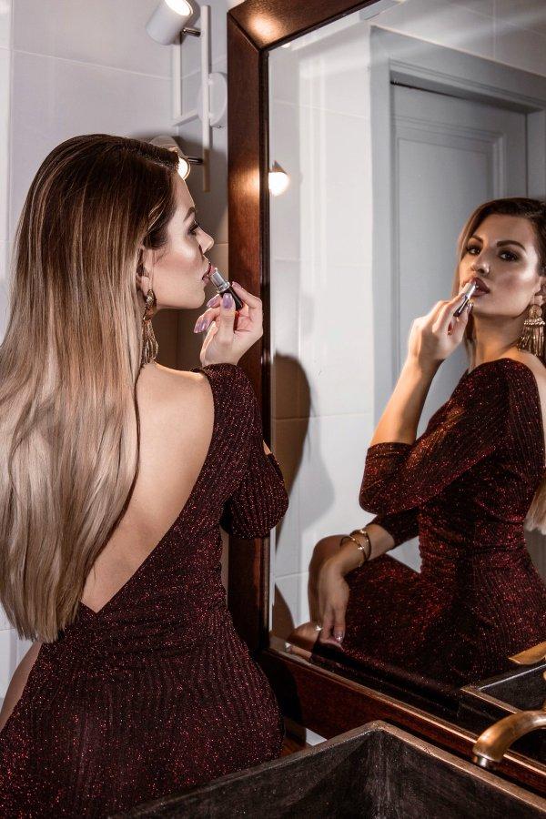ΦΟΡΕΜΑΤΑ SALES Mallora φόρεμα μπορντό
