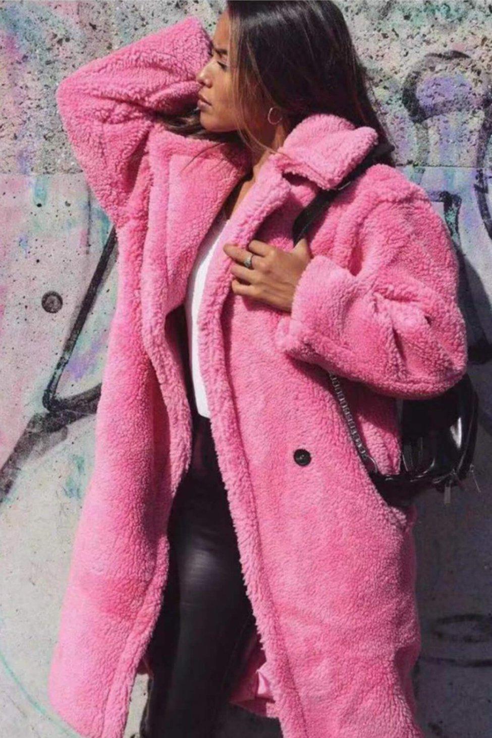 Eda γούνα ροζ