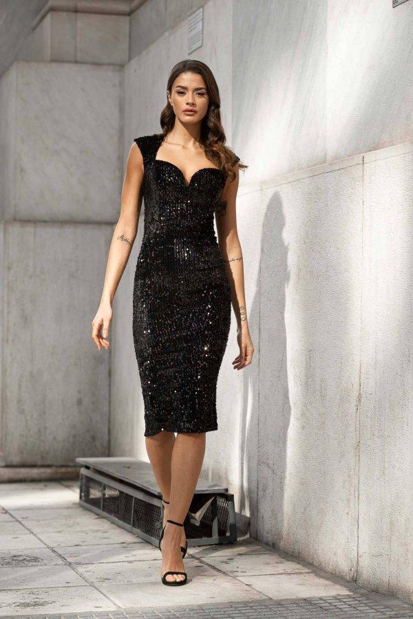 ΦΟΡΕΜΑΤΑ SALES Chilly φόρεμα μαύρο