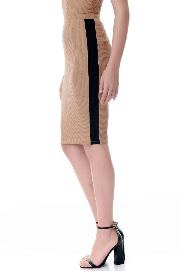Addyson φούστα μαύρη ρίγα