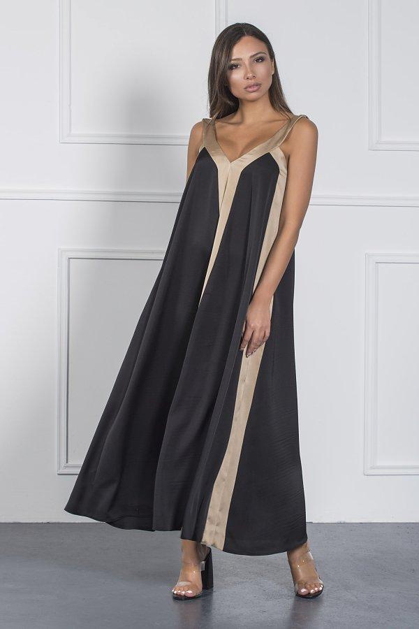 ΜΑΞΙ ΦΟΡΕΜΑΤΑ Livia φόρεμα μαύρο