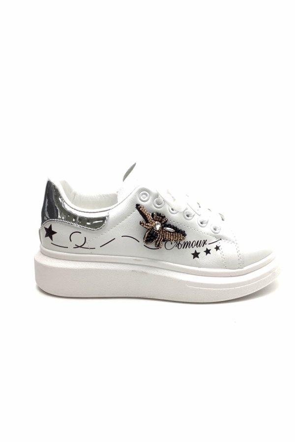 ΑΘΛΗΤΙΚΑ Honey B sneakers ασημί