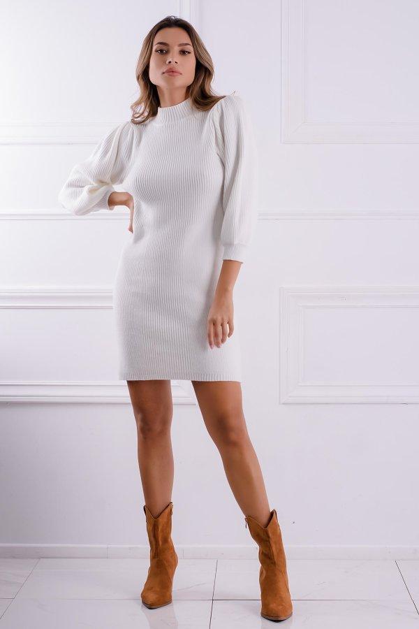 ΠΛΕΚΤΑ Lise φόρεμα λευκό