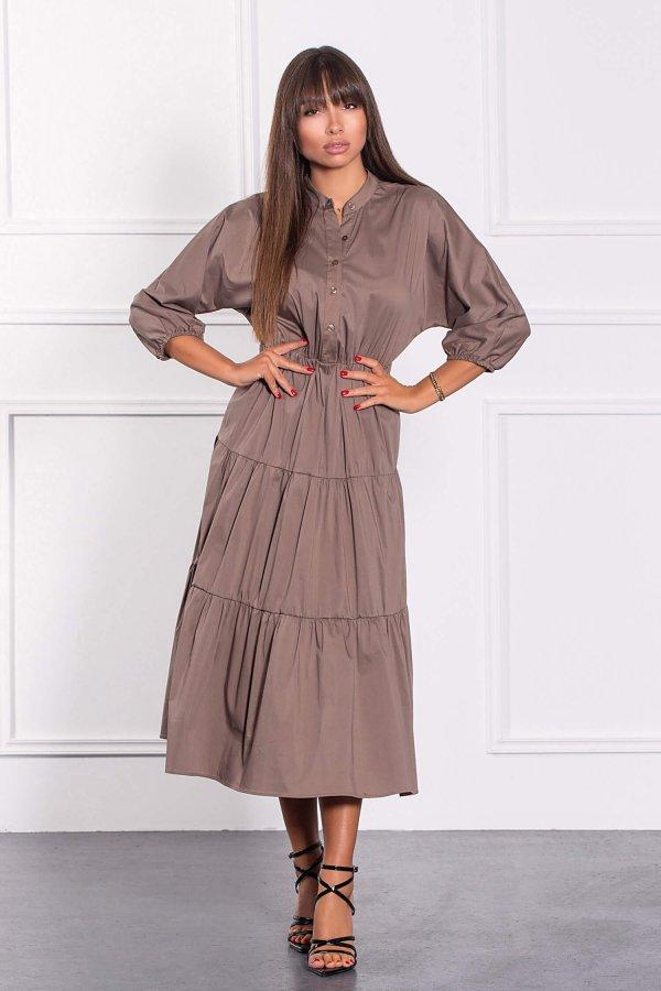 ΜΑΞΙ ΦΟΡΕΜΑΤΑ Miyoko φόρεμα πούρο