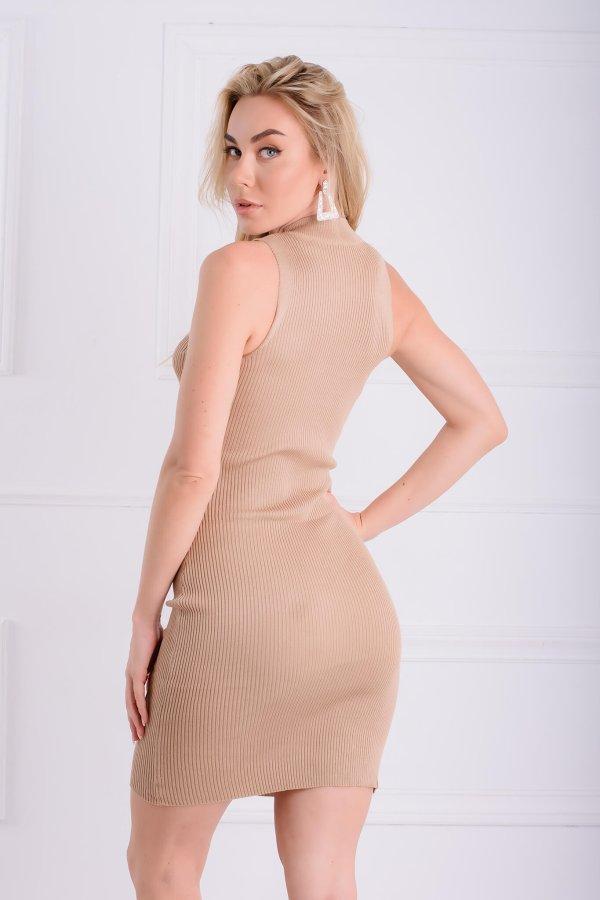 ΒΡΑΔΙΝΑ ΦΟΡΕΜΑΤΑ Chaya φόρεμα κάμελ